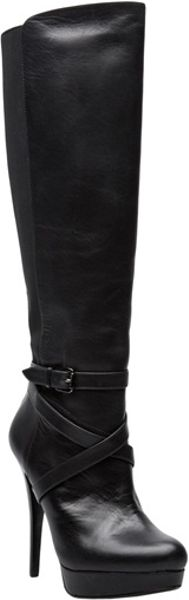Michael Kors High Heel Criss Cross Boot In Black Lyst