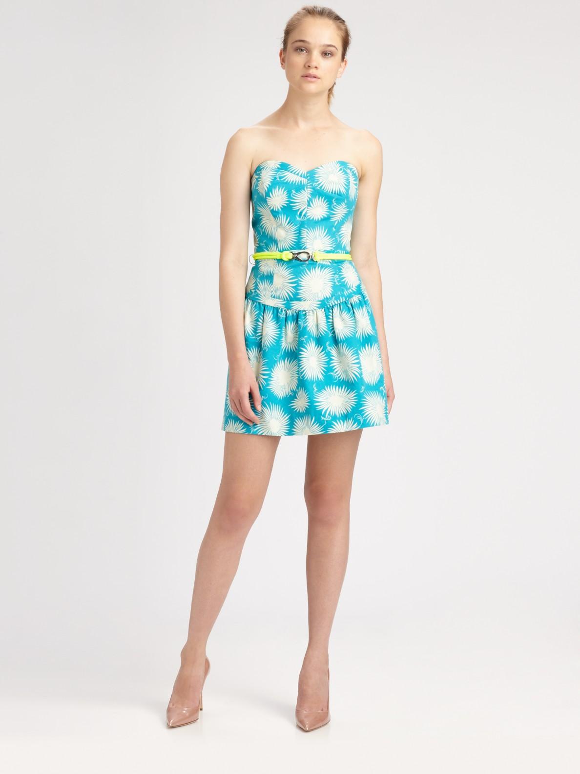Aqua Strapless Dress