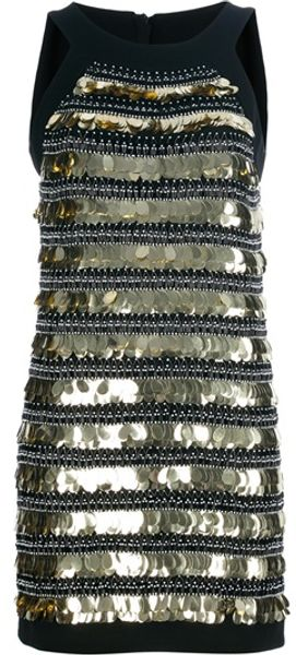 Moschino Embellisehed Short Dress - Lyst