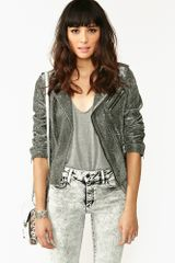 Nasty Gal Full Metal Moto Jacket - Lyst