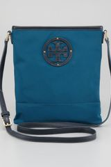 Tory Burch Stacked Logo Swingpack Bag Winter Teal - Lyst