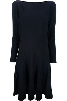 Valentino Long Sleeved Pleated Dress - Lyst