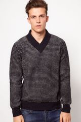 French Connection Wolsey Sweater with Birsdeye Pattern - Lyst