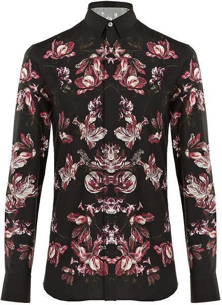Alexander Mcqueen Graphic Floral Shirt in Floral for Men