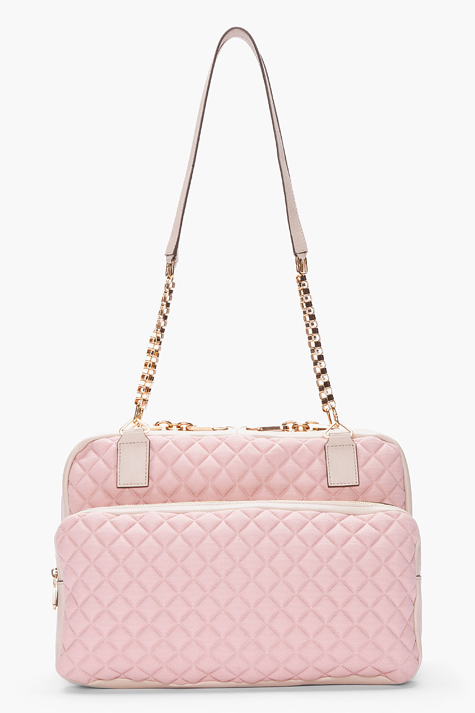 Chlo¨¦ Pale Pink Leathertrimmed Lucy Bag in Pink | Lyst