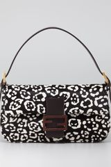 Fendi Cheetahprint Calf Fur Baguette - Lyst