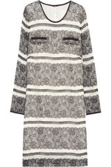 J.Crew Lace-Print Silk Mini Dress - Lyst