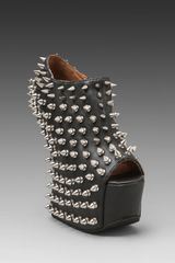 Jeffrey Campbell Duskspike in Black Leathersilver - Lyst