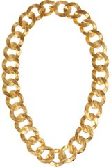 Kenneth Jay Lane 22karat Goldplated Chain Necklace - Lyst