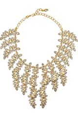 Kenneth Jay Lane 22karat Goldplated Swarovski Crystal Necklace - Lyst