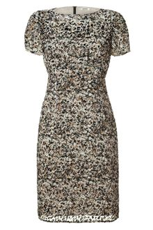 L'Agence Earthgranite Burnout Velvet Print Dress - Lyst
