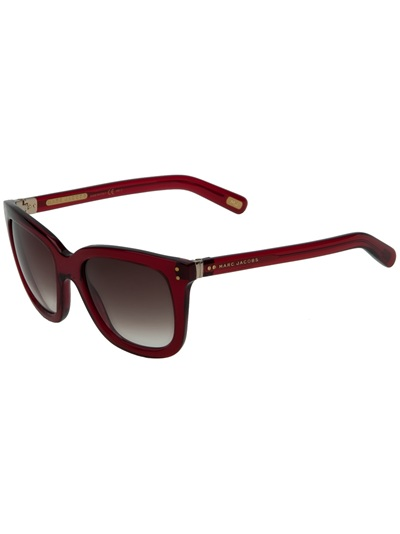 Marc By Marc Jacobs Round Frame Glasses : Marc Jacobs Round Frame Sunglasses in Red Lyst