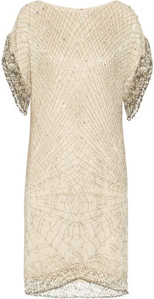 Matthew Williamson Swarovski Crystal Embellished Silk Chiffon Dress - Lyst