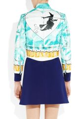 Meadham Kirchhoff The Witch Handpainted Shrunken Leather Biker Jacket in Multicolor (multicolored) - Lyst