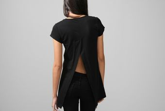 Oak Back Vent Tee Black - Lyst