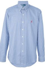 Ralph Lauren Blue Label Checked Button Down Shirt - Lyst