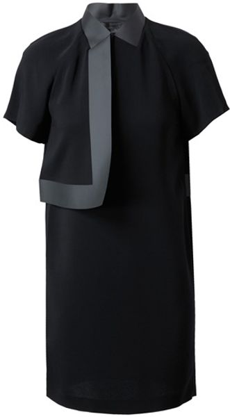 Alexander Wang Crepe and Bonded Vinyl Dress - Lyst