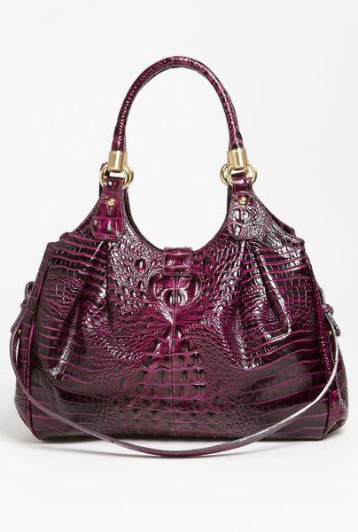 Brahmin Elisa Handbag in Purple (dark iris)
