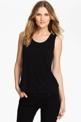 Eileen Fisher Scoop Neck Silk Tank - Lyst