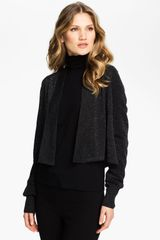 Eileen Fisher Crop Cardigan - Lyst