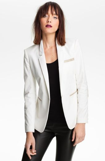 Elizabeth And James Sienna Elbow Patch Blazer - Lyst