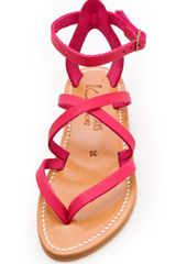 K. Jacques Epicure Crisscross Sandals in Pink (fuxia) - Lyst