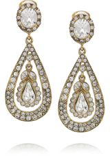 Kenneth Jay Lane 22karat Goldplated Swarovski Crystal Clip Earrings - Lyst
