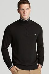 Lacoste Half Zip Sweater - Lyst