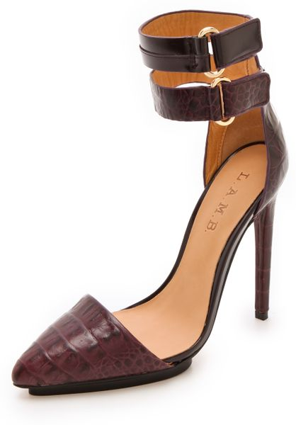 L.a.m.b. Oxley Pumps in Brown (wine)
