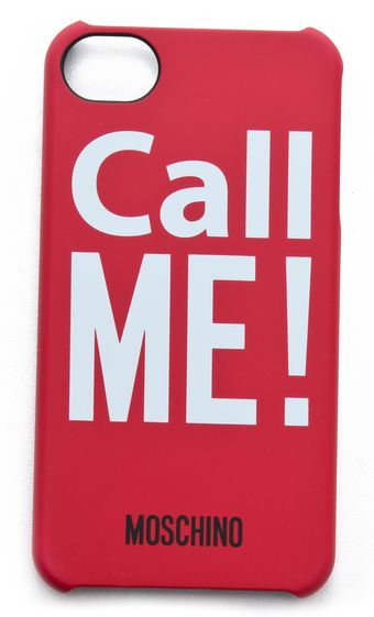 Moschino Call Me Iphone Case - Lyst