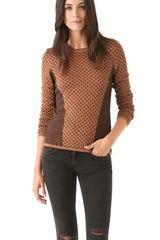 Rag & Bone Amanda Metallic Crew Sweater - Lyst