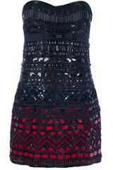 Roberto Cavalli Strapless Sequin Dress
