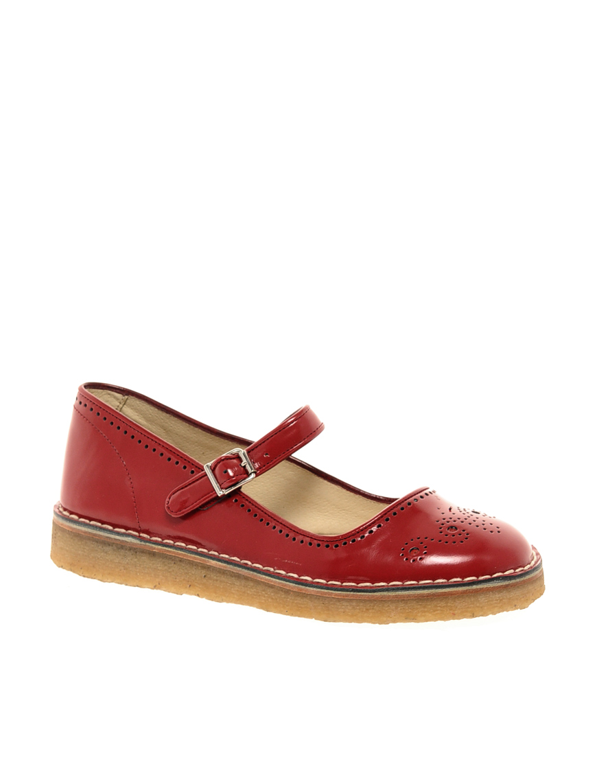 Lyst - YMC Red Mary Jane Flat Shoes in Red