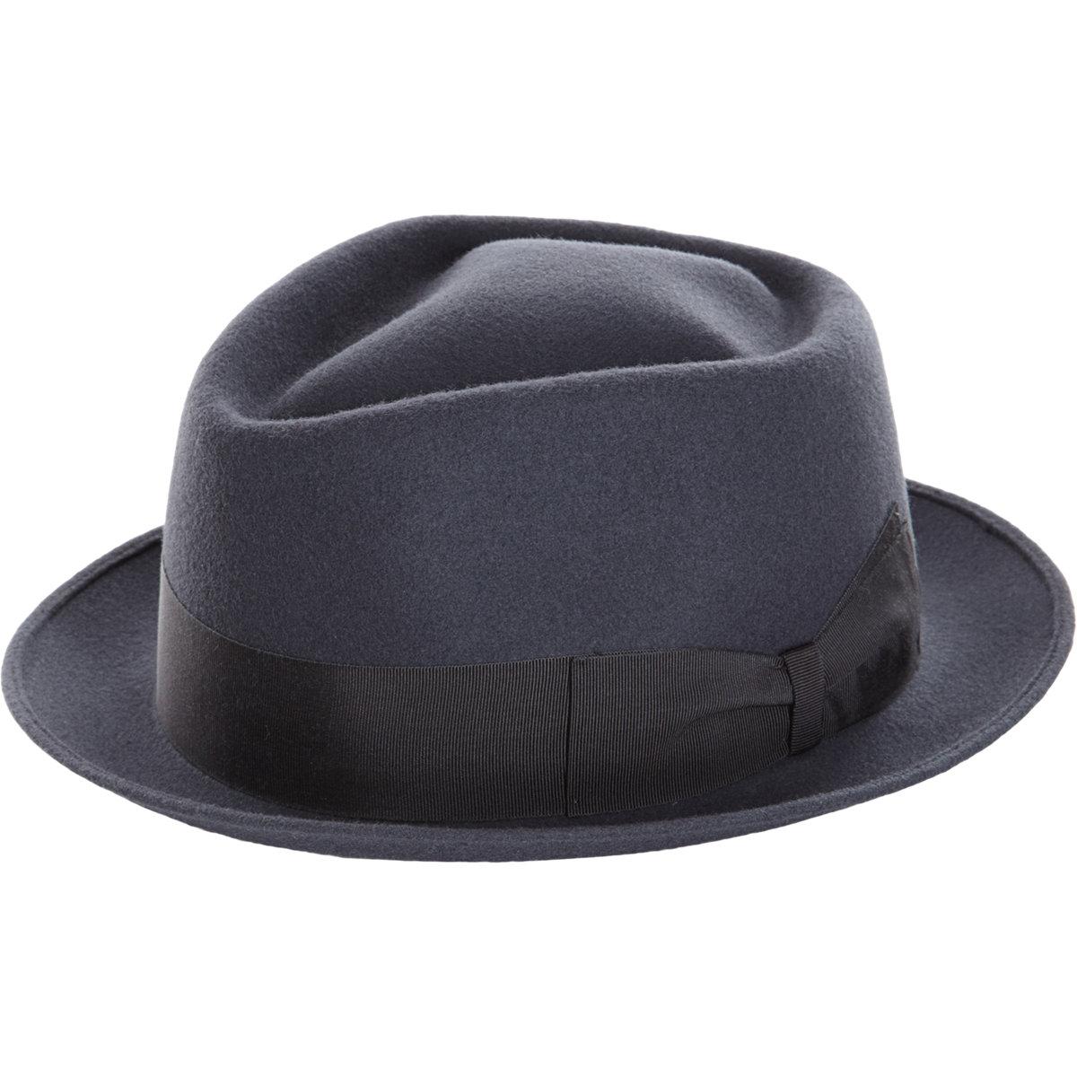 Borsalino Short Brim Fedora In Gray For Men Lyst