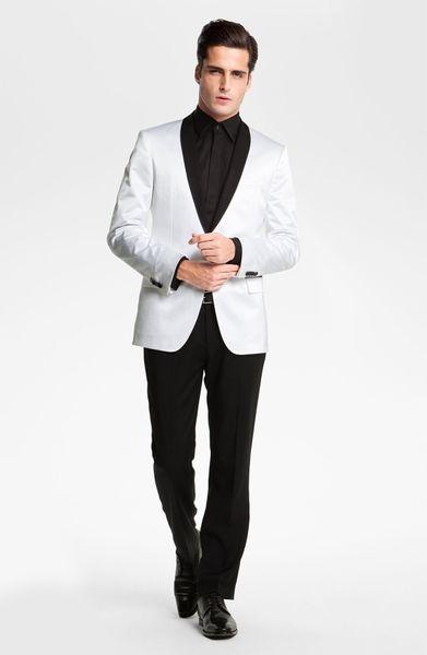Boss Black Hyatt Shawl Collar Dinner Jacket In White For
