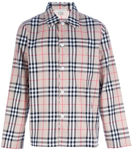 Burberry Brit Checked Pyjama In Brown For Men Lyst