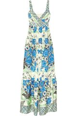 Collette By Collette Dinnigan Printed Silk Maxi Dress - Lyst