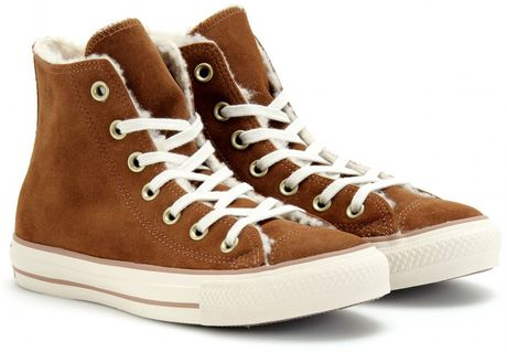 Converse Chuck Taylor All Star Suede Hightops in Brown (cocoa)