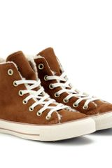 Converse Chuck Taylor All Star Suede Hightops in Brown (cocoa) - Lyst