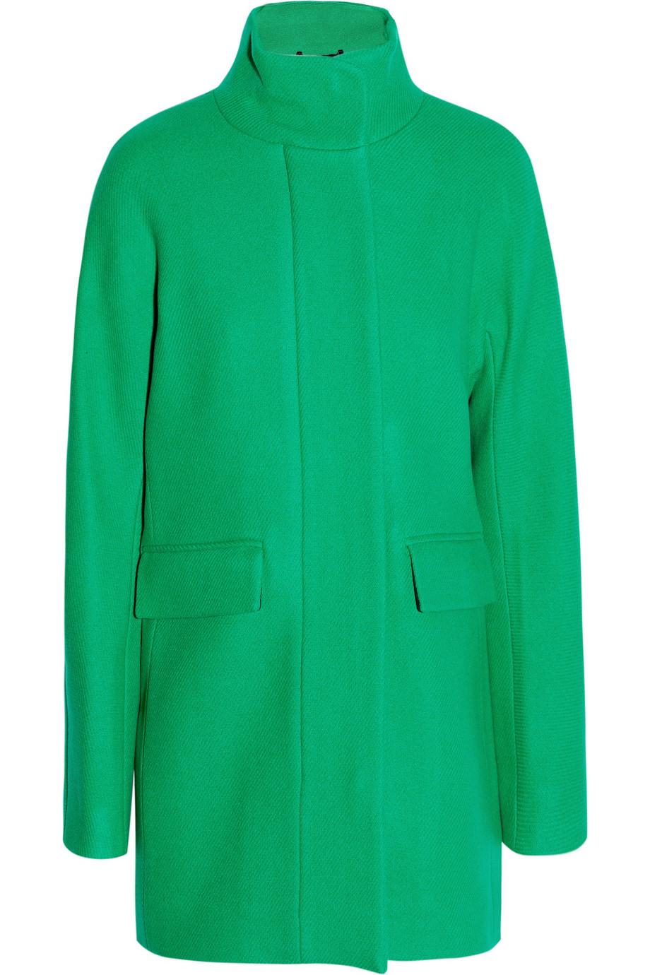 cocoona woolblend coat in green lyst. Black Bedroom Furniture Sets. Home Design Ideas