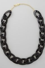 Kenneth Jay Lane Enamel Link Necklace Black - Lyst