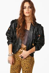 Nasty Gal Fringed Out Leather Jacket - Lyst