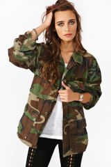 Nasty Gal Essential Camo Jacket - Lyst