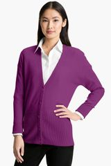 Nordstrom Collection Vneck Cashmere Cardigan - Lyst