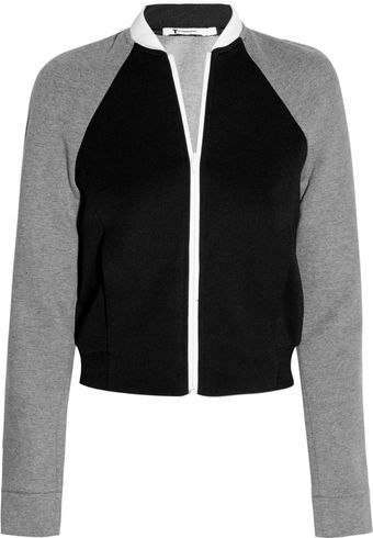 T By Alexander Wang Neoprene and Jersey Bomber Jacket - Lyst