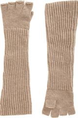 Barneys New York Long Fingerless Gloves