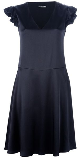 Emporio Armani Cap Sleeve Dress - Lyst