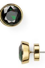 Michael Kors Emerald Crystal Stud Earrings - Lyst