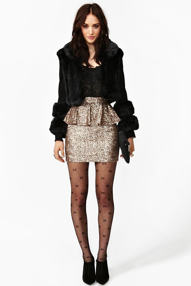 d1454b6ea5 Nasty Gal Peplum Sequin Skirt in Metallic - Lyst