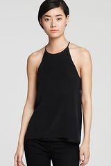 Tibi Top Silk Halter - Lyst